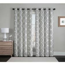 Gray And White Blackout Curtains Vcny Marco 2 Blackout Window Curtains 96 White Velour Velvet