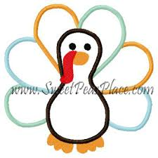 fall designs turkey thanksgiving applique embroidery design 3