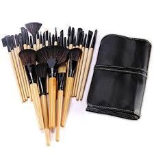 bestope professional makeup brushes set synthetic kakubi cosmetic foundation blending blush eyeliner face powder mac makeup brush kit with leather traverl