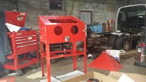 harbor freight sand blast cabinet upgrades pt 2 proper assembly harbor freight blast cabinet youtube