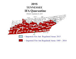 County Map Of Tennessee by Ut Extension Fire Ants
