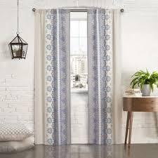 White And Blue Curtains Indigo Blue Curtains Wayfair