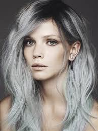 trendy grey hair hair color trends 2017 2018 highlights degrade grey hair