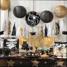 graduation party decorations masters graduation party decor black and gold graduation party