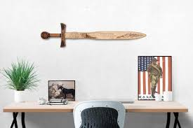 wooden united states wall united states marines wooden sword wall decor cfire arts
