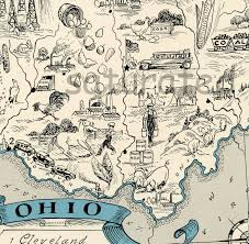 Map Dayton Ohio by Ohio Map 1931 Original Vintage Picture Map Antique