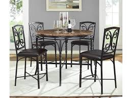 Marble Counter Table by Bernards Tuscan 5 Piece Round Counter Table With Faux Marble Top