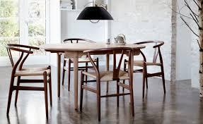 wishbone chairs mid century danish ch24 wishbone chairs by hans j