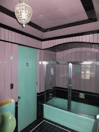 Art Deco Bathroom by Orchid And Black Vitrolite Art Deco Bathroom Bthrms Pinterest