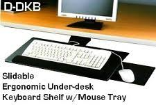 Mouse Platform Under Desk Keyboard Tray Ebay