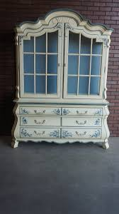 Hutch China Drexel Country French Style Hutch China Cabinet On Etsy