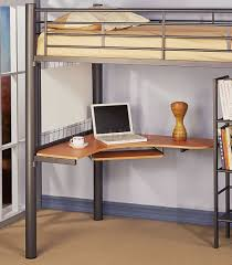 bunk bed desk combo metal loft bed with desk u2013 laluz nyc home design