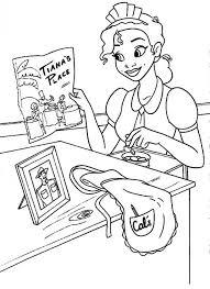 tiana spread restaurant advertising paper disney movie