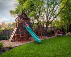 Backyard Playset Backyard Playground Hand Crafted Wooden Playsets - Backyard playground designs