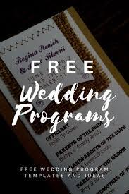 wedding ceremony program template free best 25 wedding program templates ideas on fan