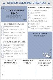kitchen cleaning routine cleaning checklist kitchens and free