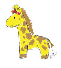 baby giraffe sketch by xaioloon on deviantart