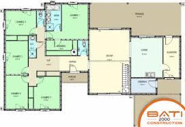 plan maison plain pied 5 chambres maison moderne plain pied 5 chambres