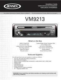 jensen vm9213 user manual 12 pages