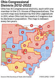 Ohio University Map by Groups Pushing Issue To Change How Districts Are Drawn