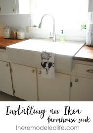 ikea farmhouse sink installation the remodeled life installing an ikea sink