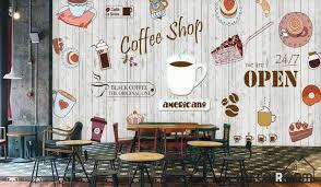 wallpaper coffee design white wooden wall graphic design coffee shop restaurant art wall