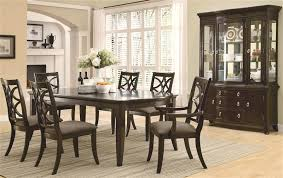 7 pc dining room set meredith 7 pc dining table set in espresso finish by coaster 103531