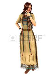 3d digital render of a beautiful native american young woman