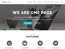 free homepage for website design 30 best free one page wordpress themes 2017 athemes
