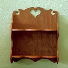 wooden curio wall shelf