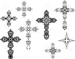 simple black cross tattoo best cross designs vector image free vector art images