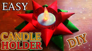 how to make an easy candle holder out of paper diy diwali