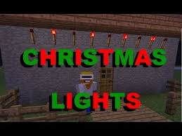 minecraft how to make christmas lights youtube