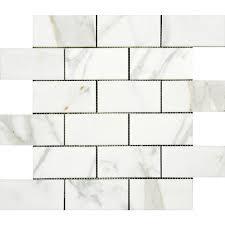 Marble Mosaic Tile 2x4 Polished Italian Calacatta Gold Marble Mosaic Tile U2013 Deko Tile