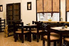 interior of japanese restaurant sushi bar stock photo picture