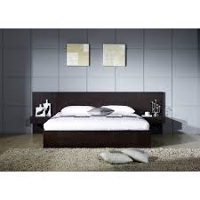 Platform Bed Frame With Headboard Sofia Wooden Frame Platform Bed With Straight Designer Headboard