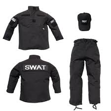 3 pc trooper black tactical uniform