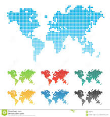 Wold Map Pixelated World Map Royalty Free Stock Photography Image 5410427
