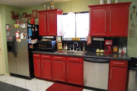 Red Kitchen Cabinet Online Get Cheap Red Kitchen Cabinet Alibaba - Red lacquer kitchen cabinets