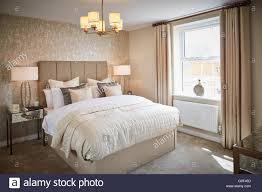 show home interior main bedroom cream magnolia calm space