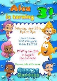 create easy bubble guppies birthday invitations printable