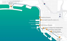 San Diego International Airport Map by Waterfront Shuttle Ace Parking Management Inc