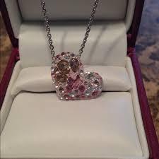 swarovski necklace pink images 33 off swarovski jewelry genuine swarovski alana pink heart jpg