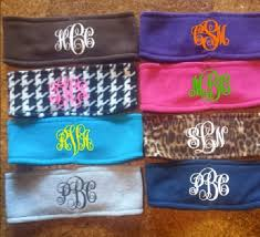 monogram headband fleece monogrammed earwarmer headbands for fall 20