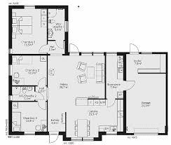 plans maison plain pied 4 chambres plan de maison plain pied 4 chambres avec garage luxury plan maison