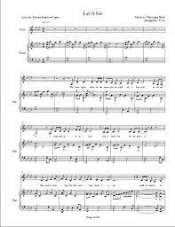 Piano Covers Sheet Music by Let It Go Piano Accompaniment Instrumental W Sheet Music Idina