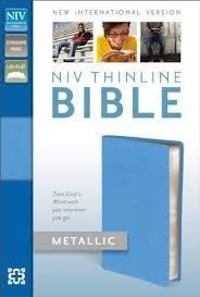 9780310411680 niv thinline bible metallic bonded leather blue