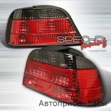 e38 euro tail lights купить 95 01 bmw e38 euro tail lights red smoke в интернет