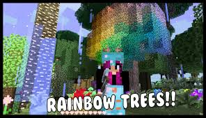 magical rainbow trees