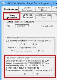 balance de comprobacion sunat balance de comprobación sunat renta 2014 importar a pdt 0692 desde excel